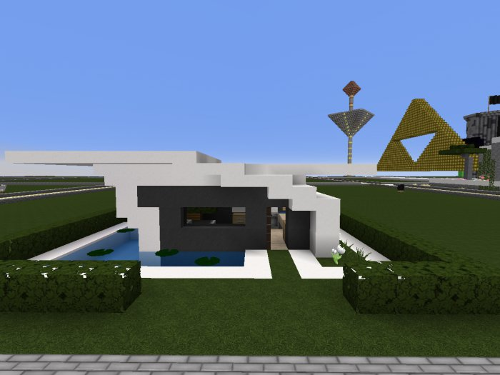Petite maison moderne de louxoses page 1 freebuild for Minecraft maison moderne
