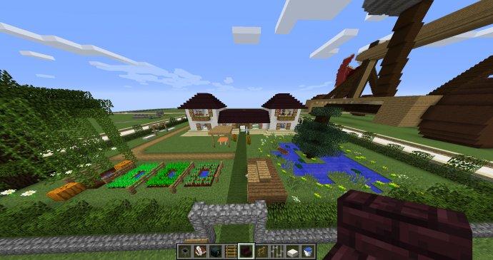 Ma maison vue de face avec son extérieur